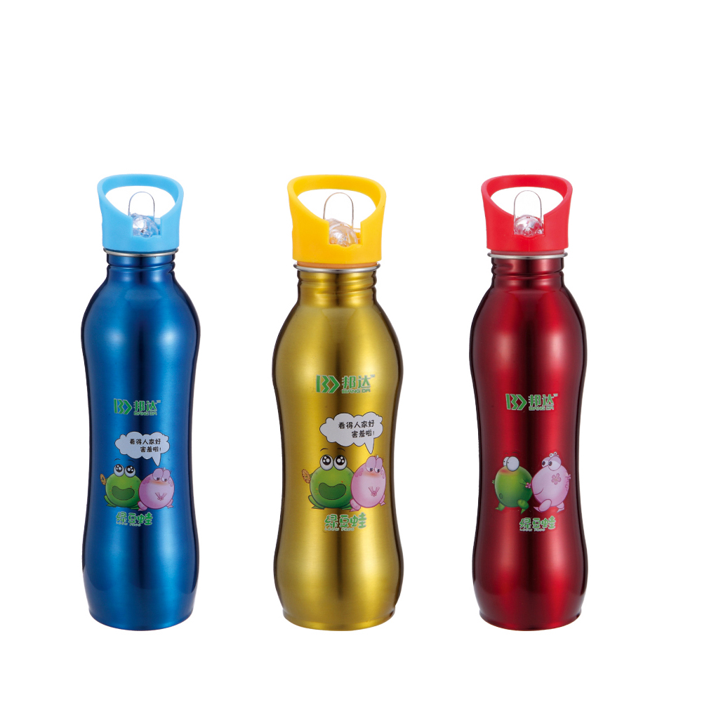 Wave shape Stainless Steel Single Bottle
